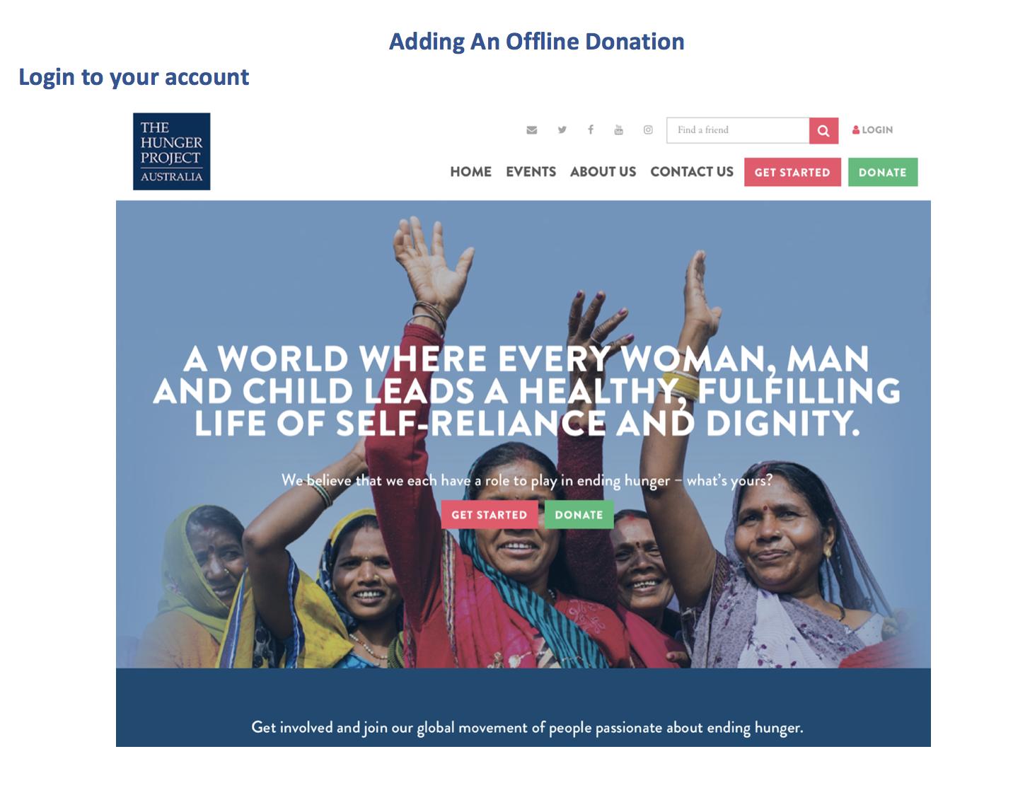 How to add an offline donation